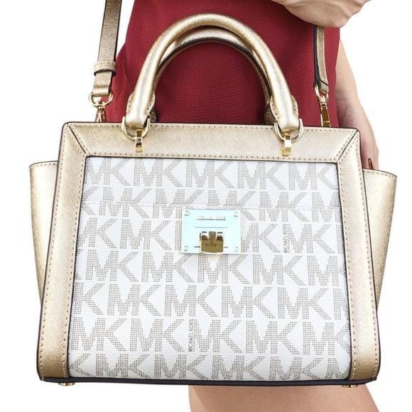 7e7ce23d81f8c7 Michael Kors Bags | Tina Small Top Zip Satchel Handbag | Poshmark